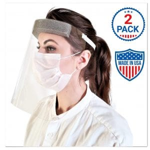 Tada Cards Face Shield with Clear Protective Film Pack of 2