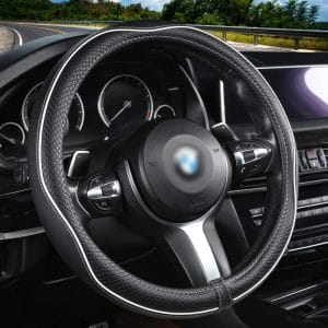 Aierxuan Microfiber Leather Universal Fit Steering Wheel Covers