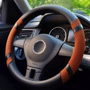 BOKIN Microfiber Leather & Viscose Steering Wheel Covers