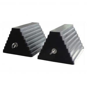80681 2 Pack Solid Rubber Heavy Duty Wheel Chock