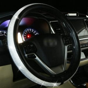GDTK Diamond Leather Universal Fit 15-inches Steering Wheel Cover
