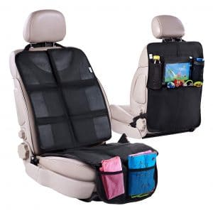 H Helteko Waterproof and Stain Resistant Car Seat Protector Back/Front Seat Cover Set