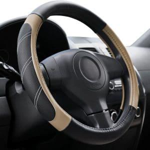 Elantrip Sport Leather Anti-Slip Steering Wheel Covers