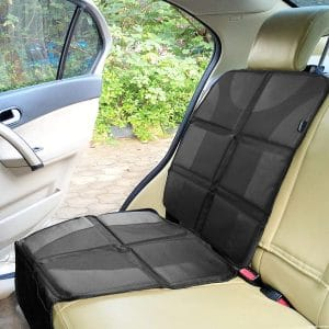 Sunferno Waterproof Thick Car Seat Protector with Two Storage Pockets