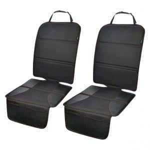 PIDO 2 Pack Car Seat Protector for Your Leather and Fabric Seats, Black Hem