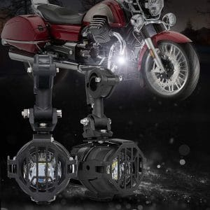 SUPAREE Motorcycle LED Auxiliary Driving Lights with Protect Guards