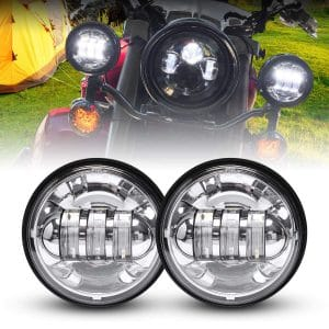 LX-LIGHT Dot-Approved Motorcycles Fog Lamps - 2 PCS