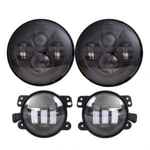 Lx-Light 7'' Black LED Fog Lights