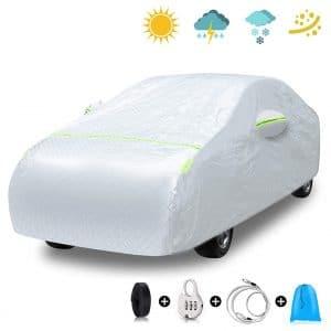 EZDOIT Car Cover Outdoor Sedan Portable Waterproof Car Cover