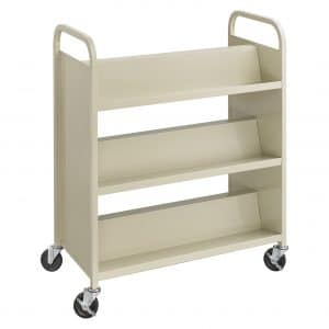 Safco Double-sided Book Cart