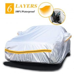 Autstop Car Cover Waterproof 6 Layers Car Cover