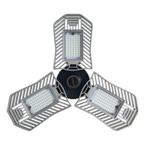 Michalegougou 80W LED Garage Lights 8,000 Lumens 6,000K