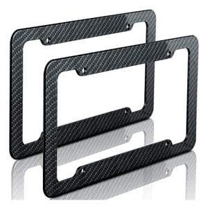 Motorup American Carbon Fiber License Plate Frame, 2 Pack