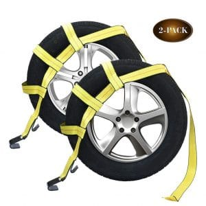 Robbor Tow Dolly Straps with a Flat Hook