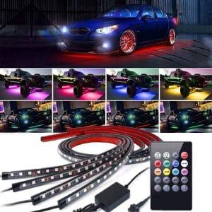 EJ's SUPER CAR 4 Pcs Underbody LED Light Kit