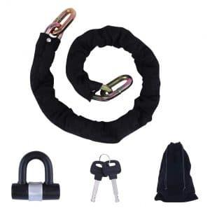 FOBOZONE Heavy Duty Chain Lock for Motorcycles