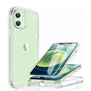 Miracase Glass iPhone 12 pro Glitter Clear Full-Body Protective Case