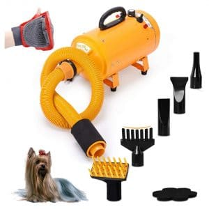 Free Paws Dog Dryer 2 Speed Adjustable Hair Dryer with 5 Different Nozzles