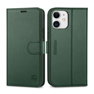 SHIELDON Case with Kickstand for iPhone 12/12 Pro- Midnight-Green