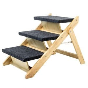 The MEWANG Wood Pet Stairs