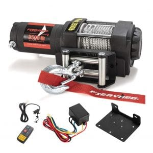 FIERYRED Electric 12V ATV Winch
