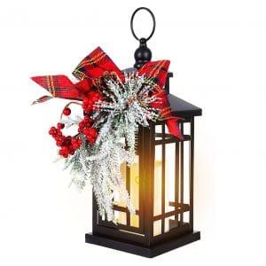 "Oubomu 14"" Flameless Flickering Candle Christmas Lantern"