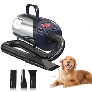 petnf Store Dog Dryer Grooming Dog Low-noise Hair Dryer with 8 Adjustable Speeds