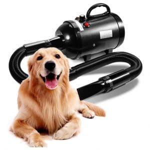 AIIYME Dog Dryer Stepless Adjustable Speed Grooming Dryer Blower with Adjustable Temperature