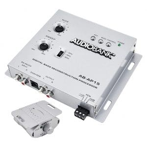 Audiobank Car Audio Digital Bass Restoration Processor with a Bass Knob