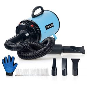 CHAOLUN Dog Dryer Professional Dog Pet Blow Dryer with 3 Different Nozzles