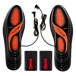 Thermrup Electric Rechargeable Li-Ion Battery Foot Warmers Far Infrared Heated Insoles