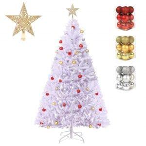 DAPIXA Artificial White Christmas Tree Solid Metal Stand