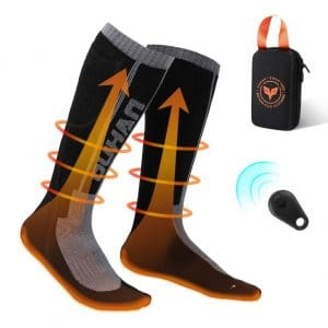 kemimoto Electric Heated Socks for Men and Women – Large