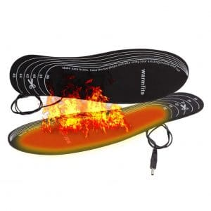 Warmfits Rechargeable Battery Powered Heated Insoles for Warm feet on Skiing Hunting