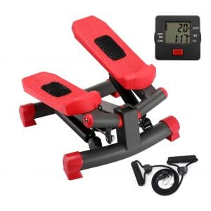KYY Indoor Fitness Stair Stepper with Resistance Bands