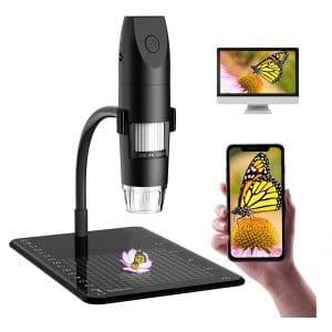 SKYBASIC Wireless Digital Microscope 50x to 1000X HD 1080P