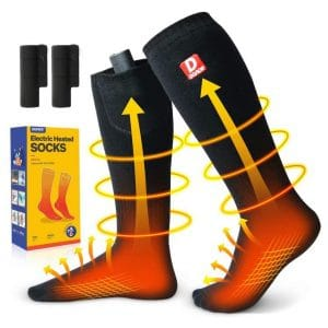 DOACE Electric Heated Socks - 3000mAh Rechargeable Batteries