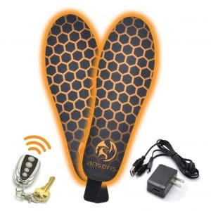 Outrek 2 Electric Foot Warmers Heated Insoles with Rechargeable Battery