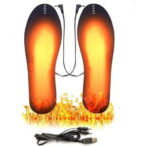 BESWORLDS USB Rechargeable Heated Insoles for Outdoor Hunting Camping