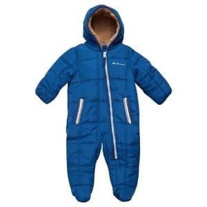 Ben Sherman Boys' Bubble Snowsuit with a Sherpa Fur Hood (Newborn)