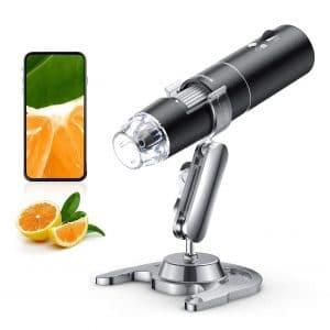 SKYBASIC Wireless Digital Microscope 50X to 1000X Handheld Wi-Fi 1080P FHD 8 LED Lights