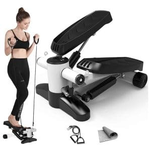 Papepipo Portable Mini Stair Stepper with Resistance Bands