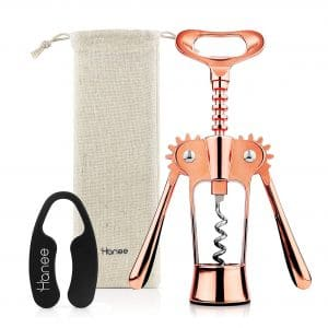 Hanee Premium Beer and Wine Bottle Opener Stainless Steel Wing Corkscrew