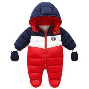 RUIMING Hooded Baby Snowsuit
