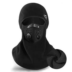 TATR Ski Men Women Mask Winter Balaclava Thermal Face Mask, Black