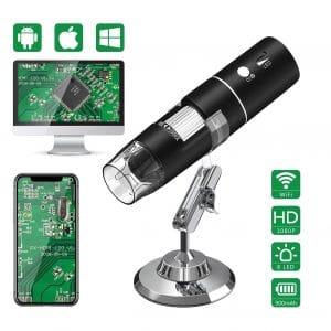 VITCOCO Wireless Digital Microscope 1080P HD 2MP 50X to 1000X Magnification