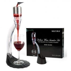 Secura Deluxe Wine Aerator with 6 Speeds Aeration