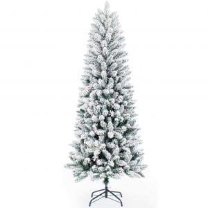 Senjie Artificial Christmas Tree 6FT, White