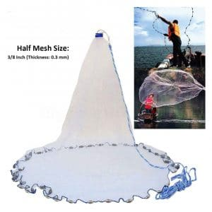 Yeahmart American Saltwater Fishing Cast Net