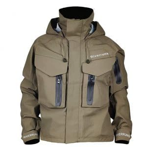 Riverruns Fishing Breathable Outdoor Wading Jacket for Fishing, Hunting, Kayak
